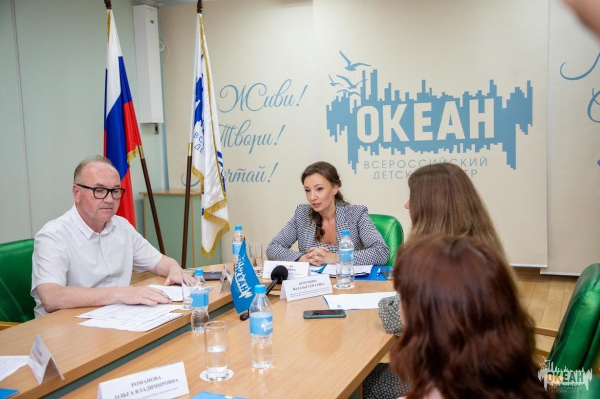 Видеосюжет: ВДЦ «Океан» посетила Уполномоченный при Президенте РФ по правам ребёнка Анна Кузнецова